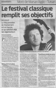 Journal Sud-Ouste, 21 août 2014