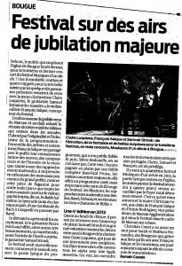 Journal Sud-Ouest, 3 septembre 2012